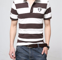 Double Mercerized Cotton Polo Shirts Yard/Dye Stripe Shirts,Fashion Wholesale Striped Yarn Dyed Brand Polo T Shirts Me