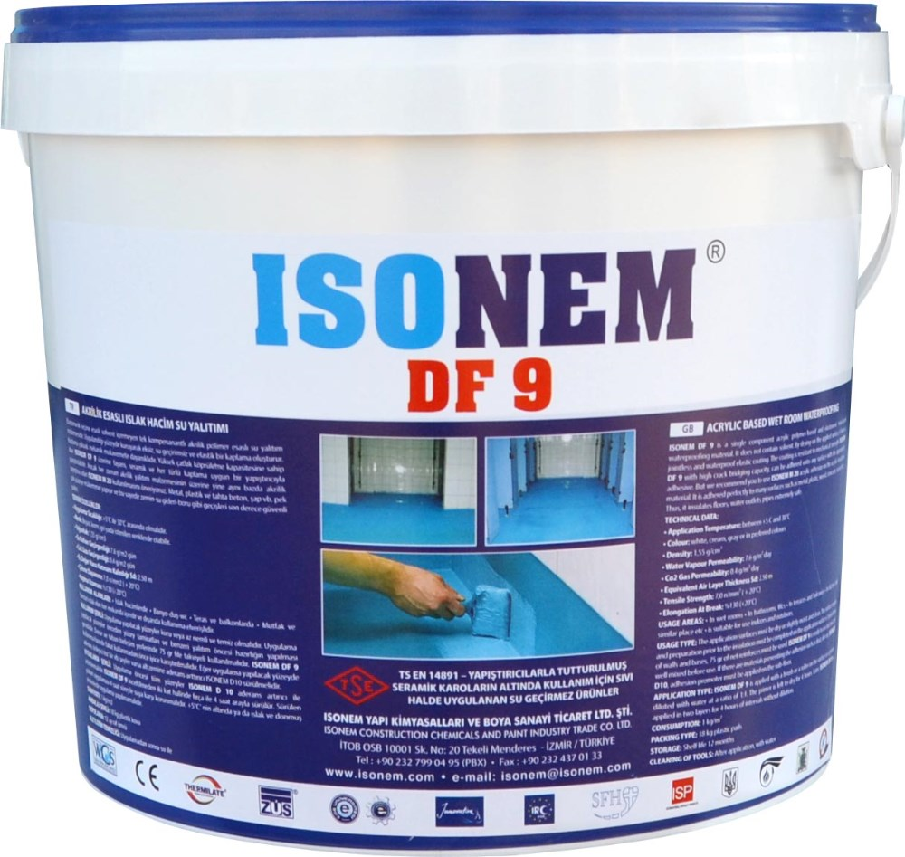 Isonem Df 9 Acrylic Based Waterproofing Material Under Tiles One
