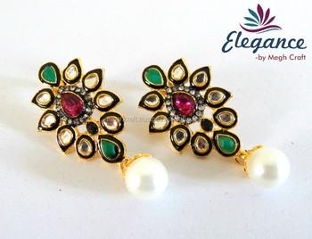 Indian Victorian Earrings Kundan Whole Online Jewelry