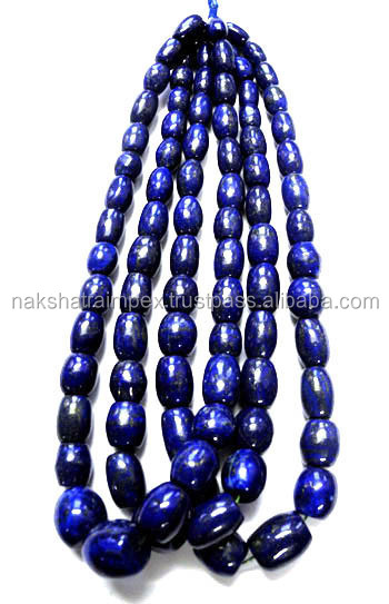 Top AAA Quality Natural Lapis Lazuli Drum Plain Loose Beads Strands