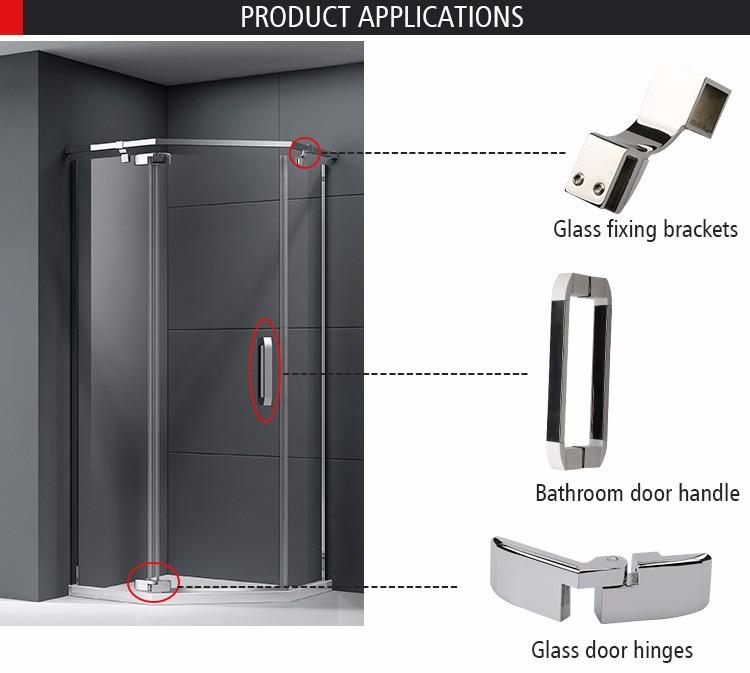 Stainless Steel Hinges Frameless Sliding Glass Door Hardware Italy