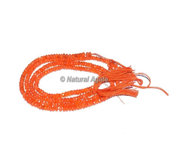 Gemstone Carnelian Faceted Rondelle Beads