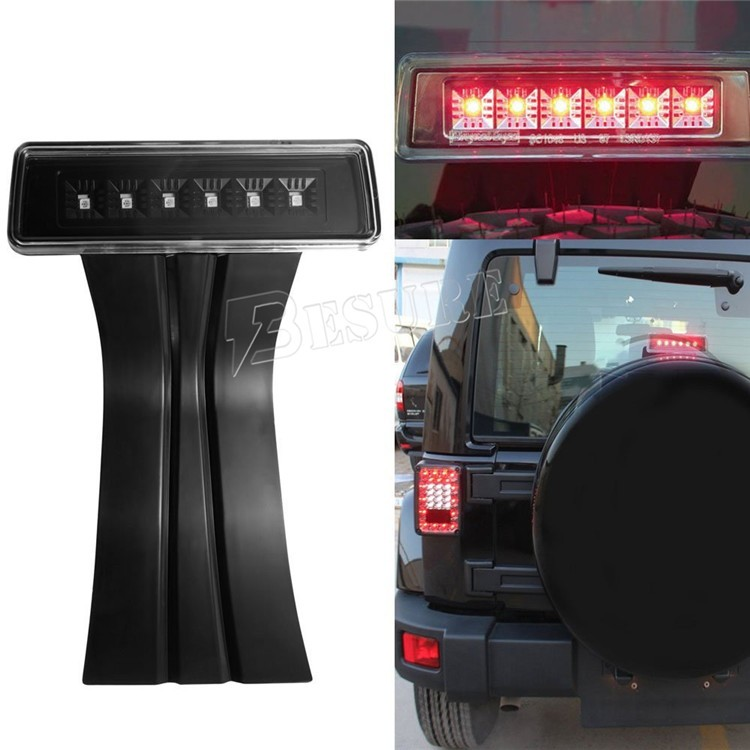 6W LED Rear Signal Light High Mounted Round LED Truck Rear Brake Stop Lamp For Jeep Wrangler