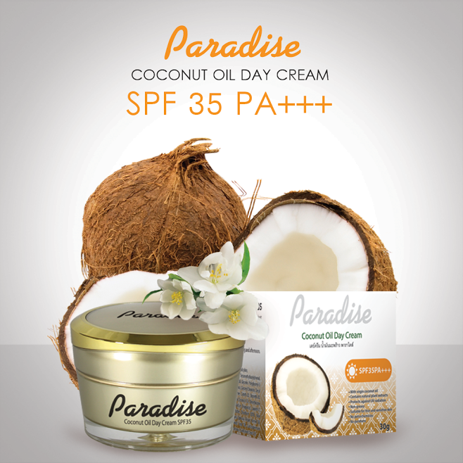Skin care beauty from coconut oil for facial cream product in Thailand