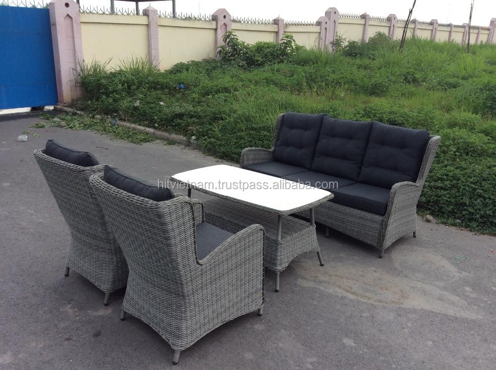 wicker polyrattan sofa rattan stuhl vietnam hersteller polyrattan stuhl 2 st hle 1 bank 1. Black Bedroom Furniture Sets. Home Design Ideas
