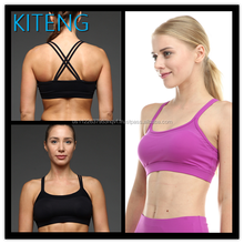 Kiteng yoga sport bra with double crossed straps on the back Office In United States (USA)