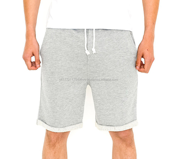 a6c6ab288 Customized cotton terry fleece men sweat shorts rolled hem with knotted  drawstring