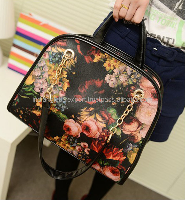 Vintage Oil Painting and Chains Design Women's Tote Bag