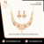 Flawless Finishing Antique Design CZ Necklace 50753