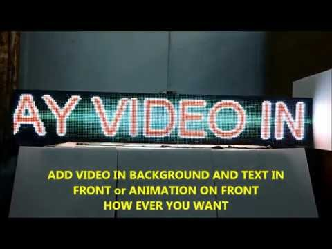 "FULL COLOR VIDEO IMAGE 13""X 76"" PROGRAMMABLE LED SIGN SCROLLING MESSAGE DISPLAY OPEN CLOSE  SIGN"