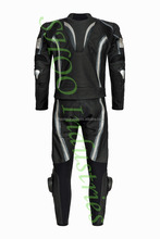 Fore Men Motorbike Motorcycle Biker Black Racing Leather Suit CE Armour