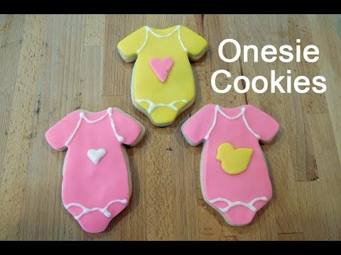 Baby Shower Onesie Sugar Cookies Decorated