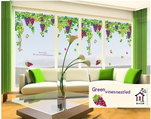 SYGA GRAPE VINE TREE ART WALL STICKERS