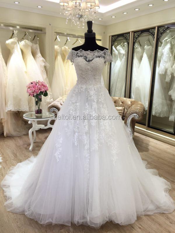2017 vestido de bola del hombro vestidos de novia de turquía