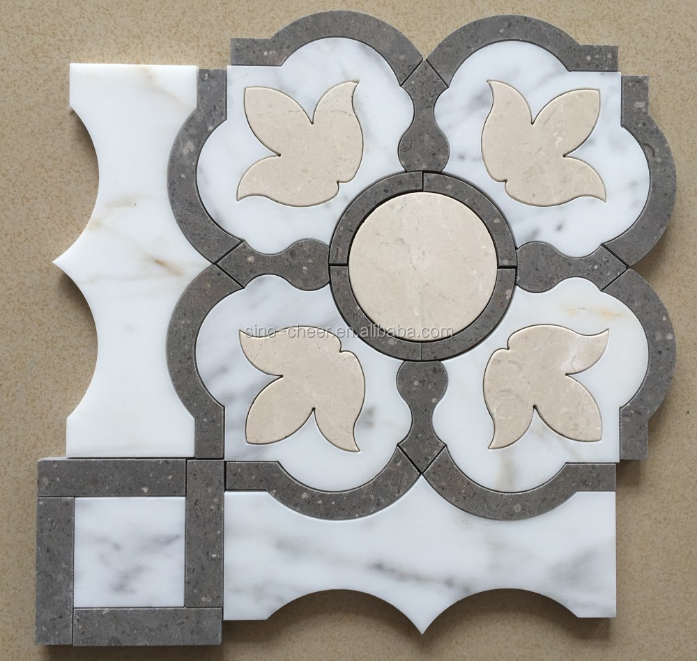 Billige Fliese,Carrara Marmor Mosaik,Weiß Wasserstrahlschneiden ... : billig mosaik : Inredning