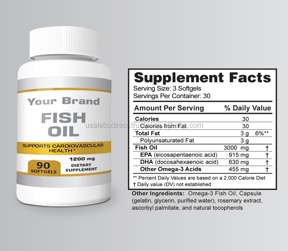 Fish Oil (Private Label/OEM/White Label or Stock Brands Available)