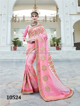 591f572a6f Factory Price Heavy Embroided Gerogette Sarees for Women - Indian designer  sarees online - Wholesale Sarees