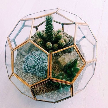 Home Decorating Geometric Glass Plant Terrarium Glass Vase