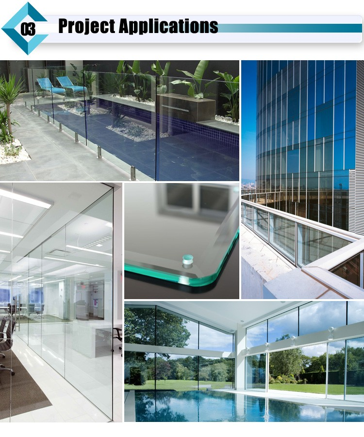 Manufacture 4mm 5mm 6mm 8mm 10mm 12mm 15mm Tempered Float Glass Panels Price