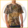 Dry fit new style Stretch V Neck Tee camo hunting t shirt