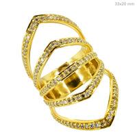 18k 750 Yellow Gold Diamond Ring GEMCO INTERNATIONAL Fine Jewellery