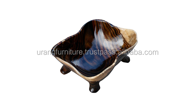 Best selling eco-friendly natural rose wood bowl from Indonesia
