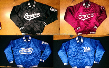 Satin Baseball College Jackets/high Quality Bomber Satin Shinny ...