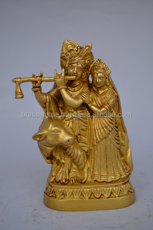 Gorgeous Radha Krishna Brass Statue a unique handmade craft
