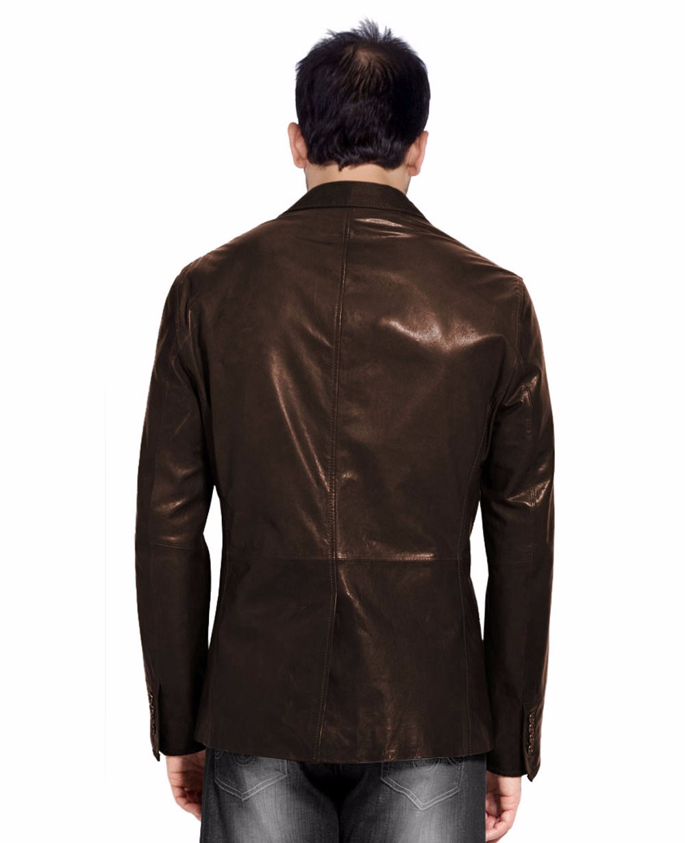 High Quality Coat Blazer Man Clothing With Factory Price Hunting Leather  Jackets , Buy Newest Style High Quality Fashion Men Leather Blazer,Mens