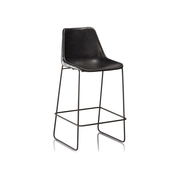 Bar Stools made in Iron Frame with Leather on PVC Seat