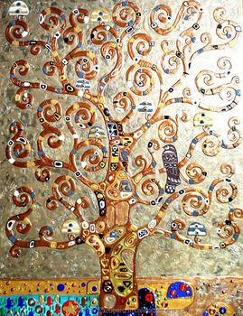 famous master gustav klimt the tree of life paintings artwork for