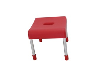 Plastic Chair With Low And Stainless Steel Legs, Anti Slip And Heavy Duty