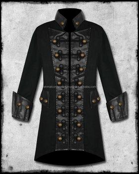 promo code b935a 89fe8 Mens Nero Pulsanti Di Rame Steampunk Goth Militare Pirata Giacca Cappotto -  Buy Velluto Gotico Cappotto Per Mens,Cappotto Per Mens Gotico Steampunk ...