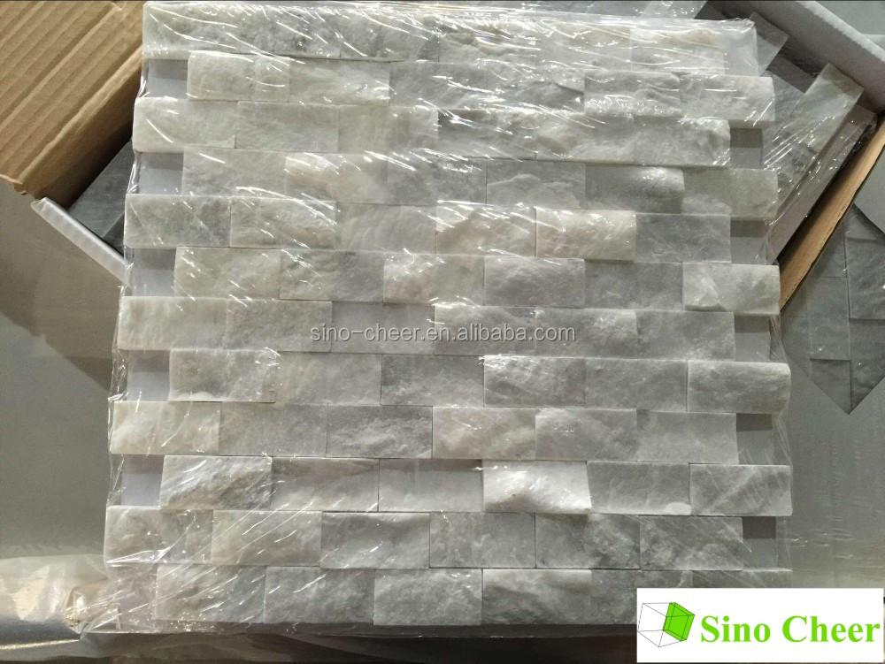 carrara marble non beveled brick subway tile backsplash