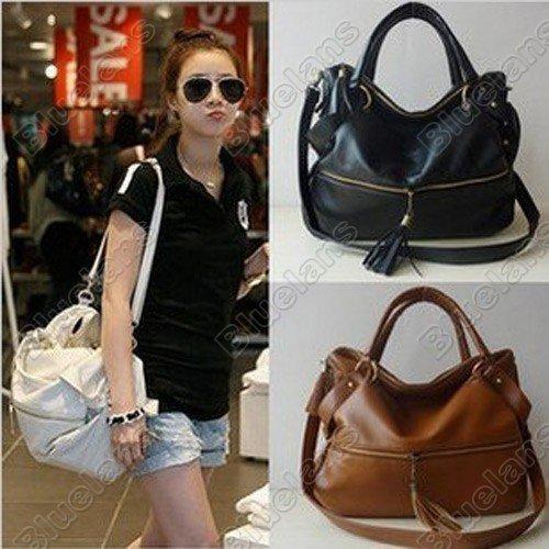 e00d5b830a96 Faux Leather Bag Purse Handbag Tote Satchel Front Pocket Top Handles  Dual-Use