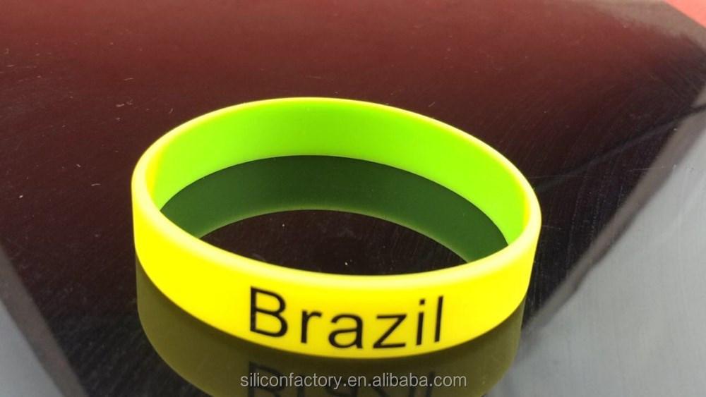 4a51a9137c19 Barato Rusia fútbol banderas país silicona pulsera fútbol Francia España  Brasil