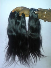 raw virgin indian hair extensions / silky straight machine weft, virgin hair