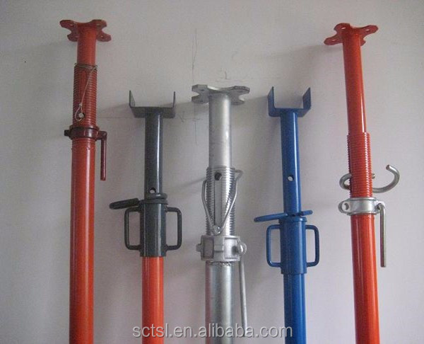 Adjustable Telescopic Prop : Scaffolding building steel adjustable telescopic shorting