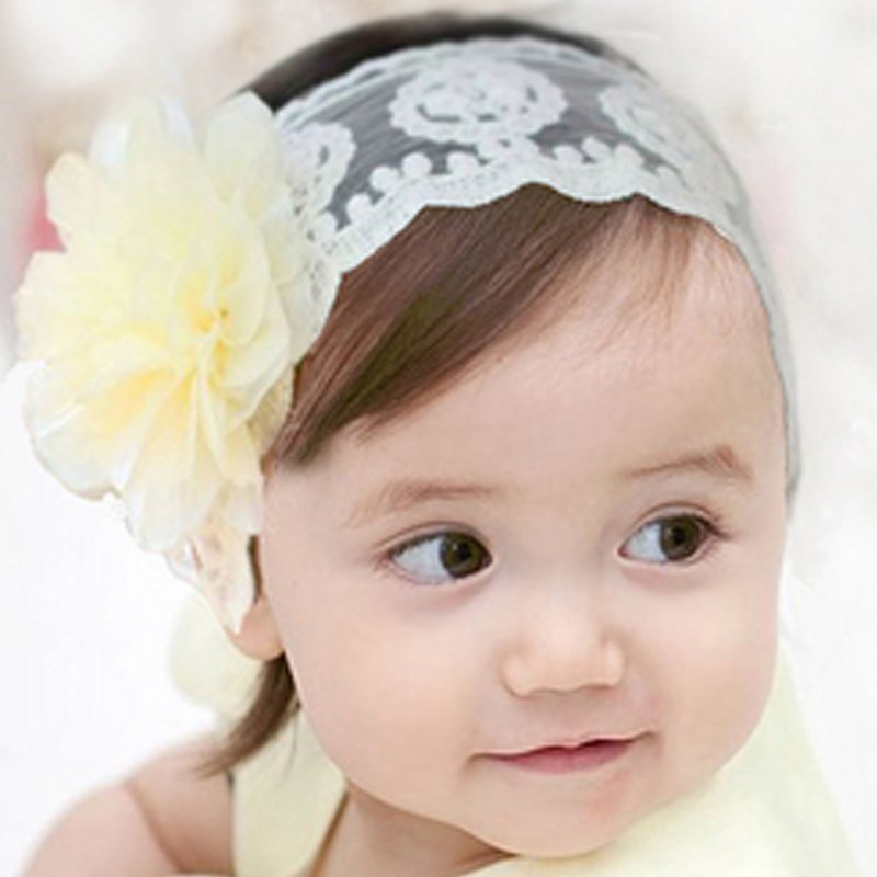 Pure White Hair Accessories Baby Toddler Girl Beautiful Lovely Flower Lace  Headband Hair Clip Hair Band on Aliexpress.com  c08a9dab177