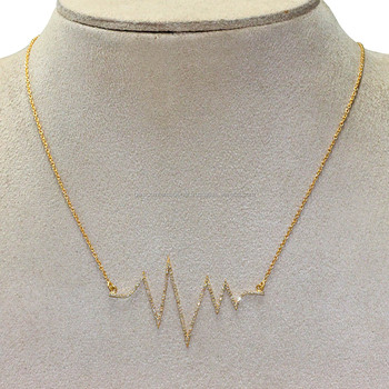 New 18kt yellow gold chain design for women heart beat necklace new 18kt yellow gold chain design for women heart beat necklace aloadofball Gallery