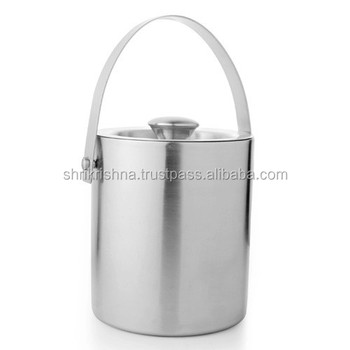 Stainless Steel Apple Ice Bucket With Tong