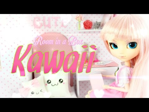 How to Make a Doll Room In A Box: Kawaii - Doll Crafts