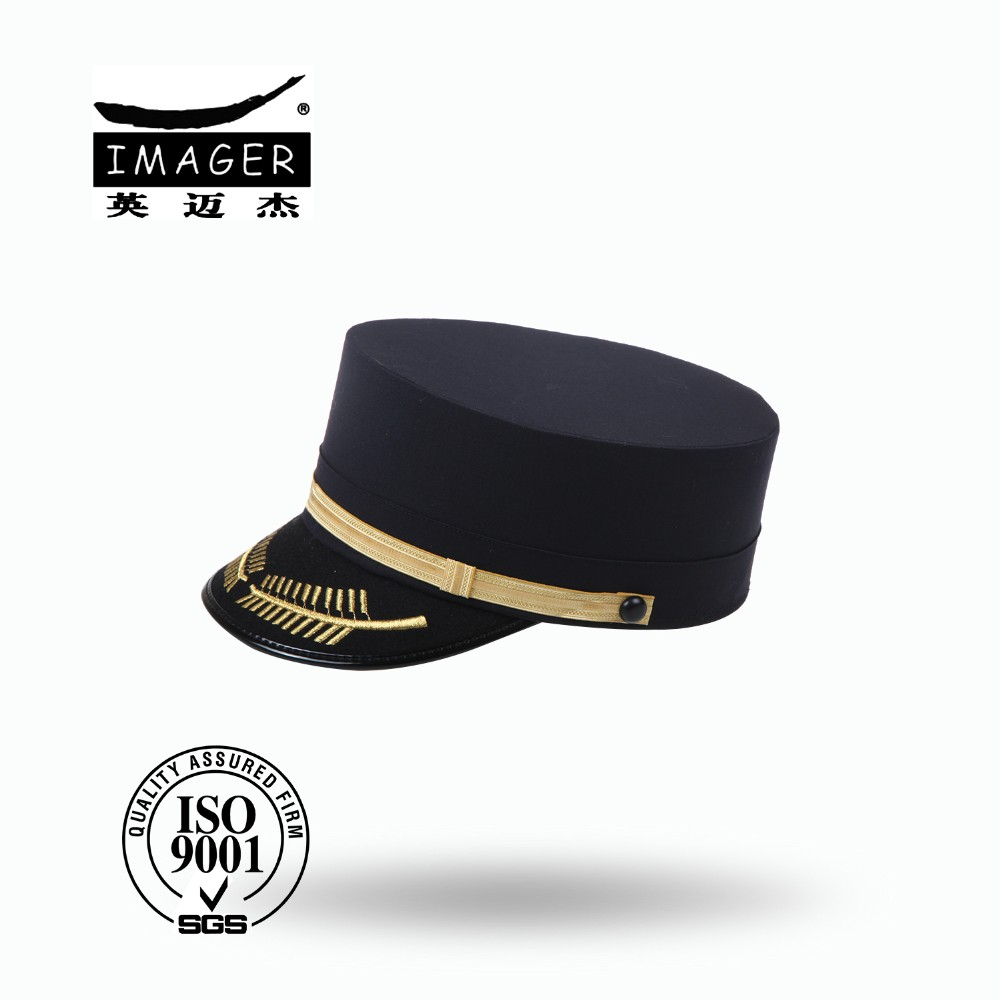Honorable Air Force Air Commodore Hat with Black Strap and Gold Embroidery