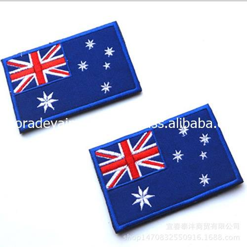 Embroidery Customized design Flags Patches Sew on Iron on Badges