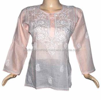 Embroidered Tunic Dress - Buy Western Designer Kurtis Tunic In Indi ...