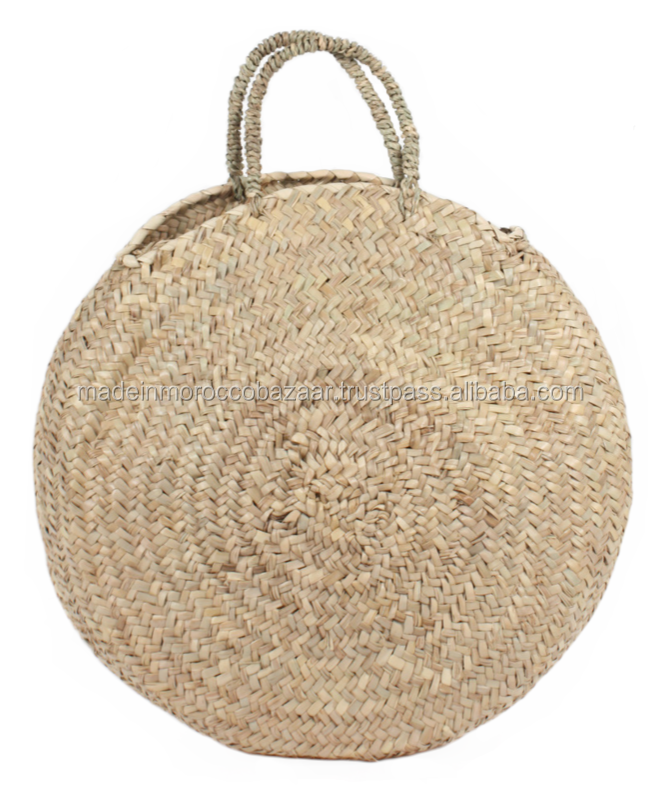 Trendy Hand Woven Round Straw Bag