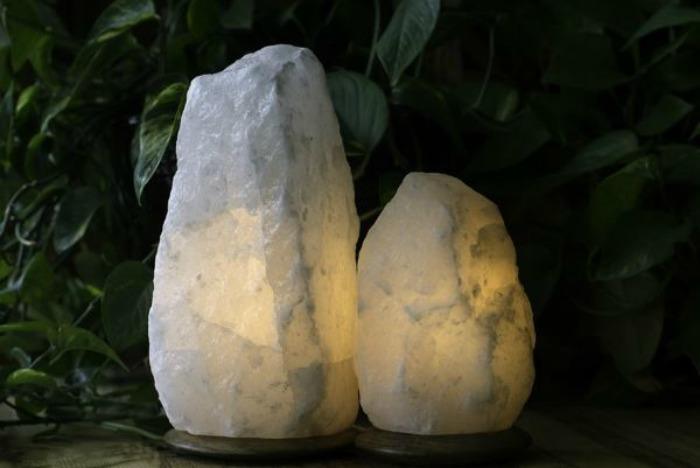 Himalayan white rock salt lamps1.00~2.00 kg