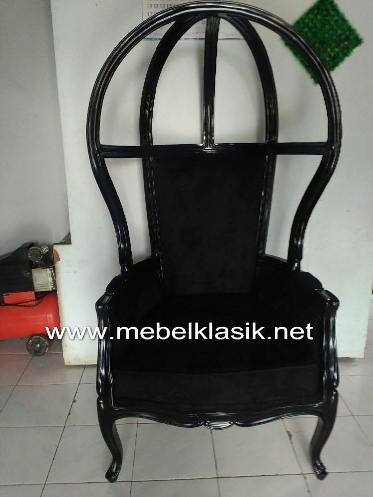French Chair Modern Black Potter Hollow Furniture