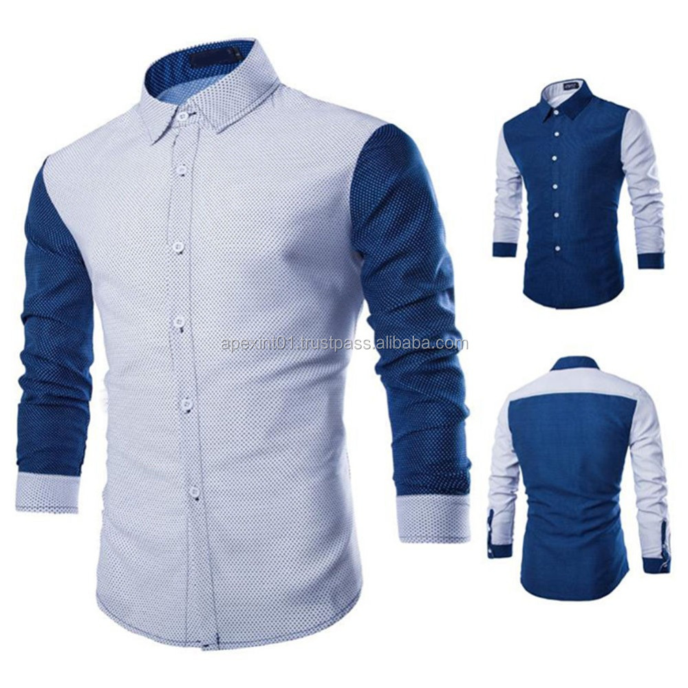 Slim Fit Mens Dress Shirts High Quality Mens Luxury Business