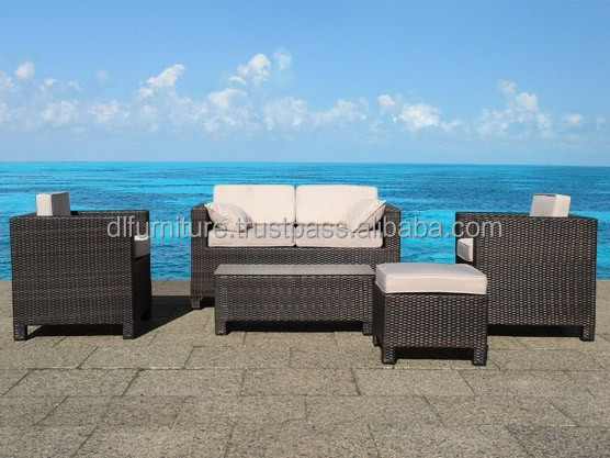 Plastic garden furniture, Factory Manufacturer Direct Wholesale, Poly PE synthetic rattan wicker outdoor patio